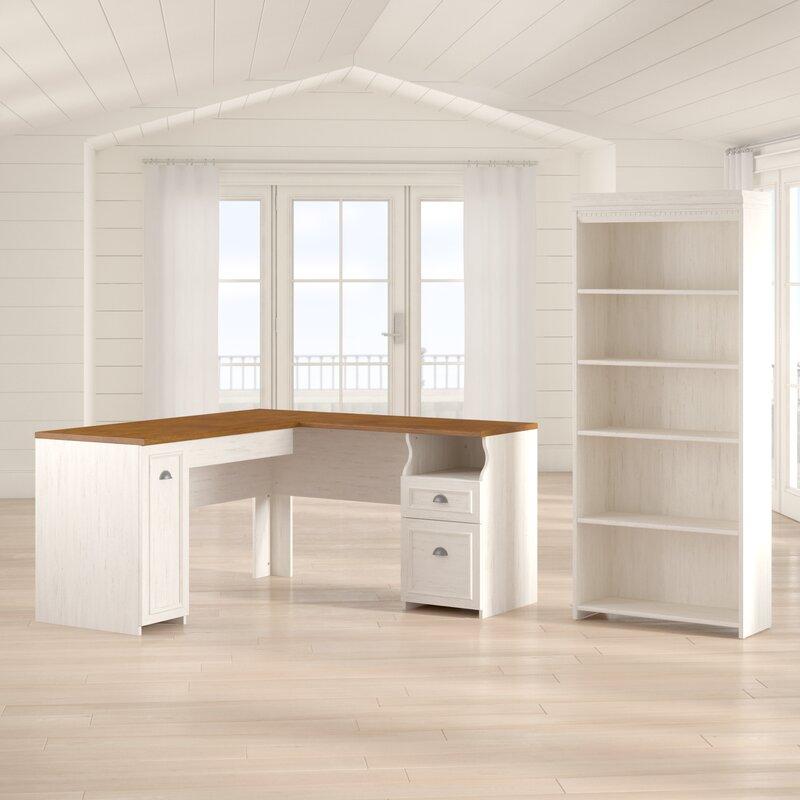 Beachcrest Home Oakridge 2 Piece L Shaped Desk Office