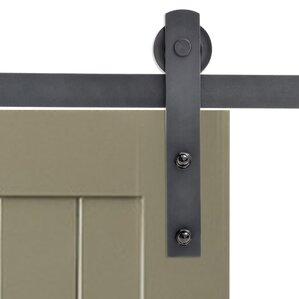 classic straight strap sliding door track barn door hardware
