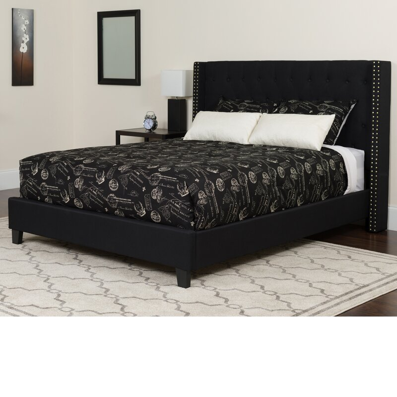 Alcott Hill Konieczny Tufted Upholstered Platform Bed With Mattress Amp Reviews Wayfair Ca