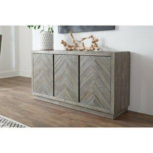 Staton Herringbone Pattern Wooden Sideboard