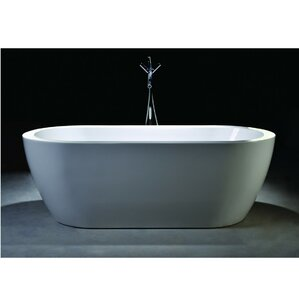 67 7  x 30 7  Freestanding Soaking BathtubFreestanding Tubs. Small Freestanding Soaking Tub. Home Design Ideas
