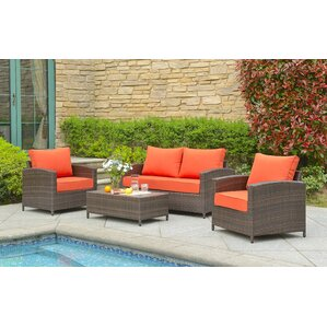 Marybeth 4 Piece Deep Seating Group With Cushion