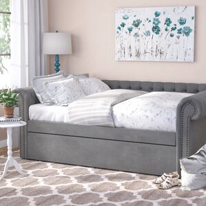 Gowans Button Tufted Linen Daybed by T..
