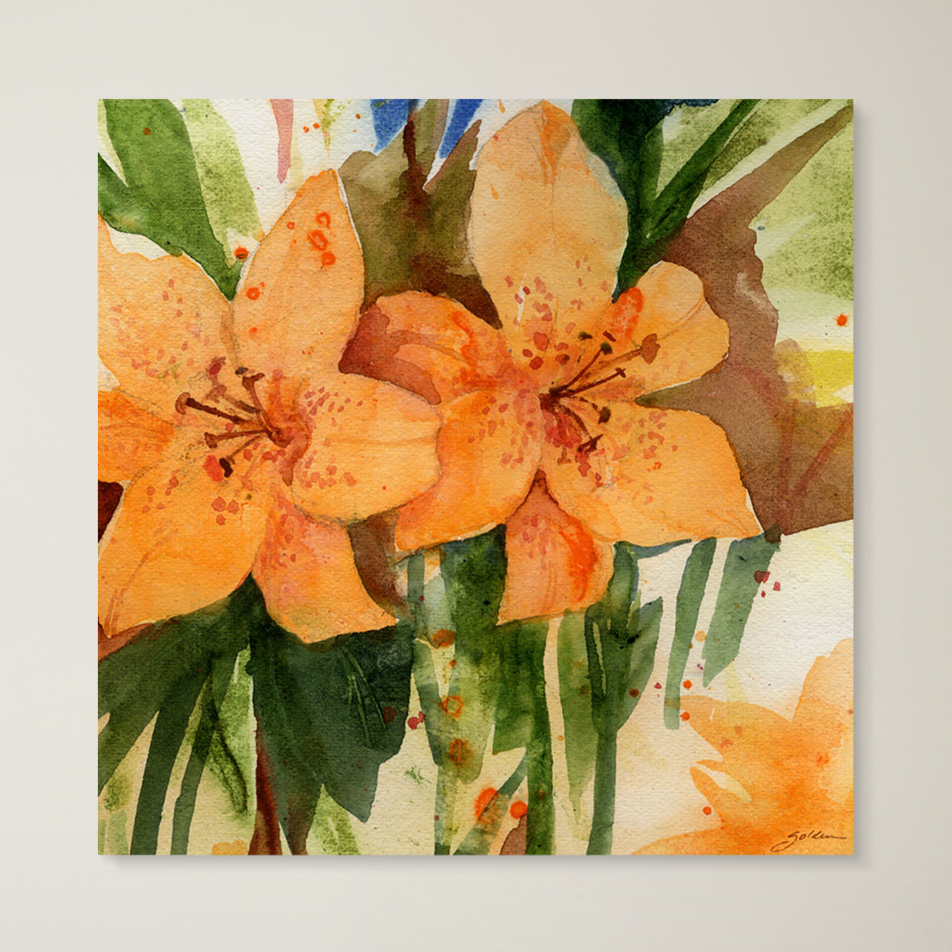 Trademark Art Tiger Lilies Painting Print On Canvas Reviews