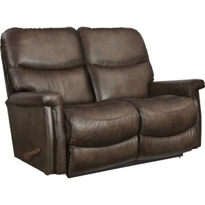 Baylor Leather Reclining Loveseat by La-Z-Boy