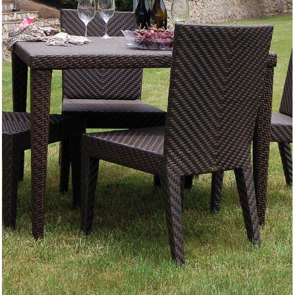 Hospitality Rattan Soho Patio Woven Square Dining Table | Wayfair