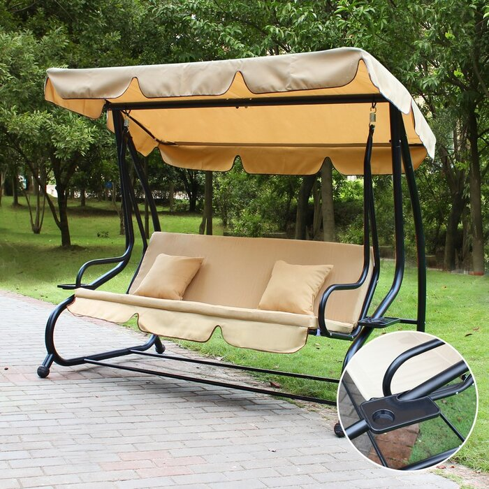 swing homebeez porch canopy pdx stand awning with bench outdoor