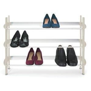 3 tier mod 12 pair stackable shoe rack