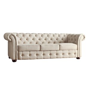 Minnie Tufted Button Chesterfield Sofa by Three Posts