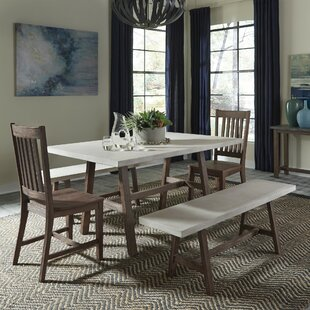 Jameown Trestle 5 Piece Dining Set