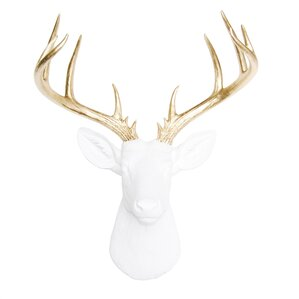 large deer head faux taxidermy wall dcor