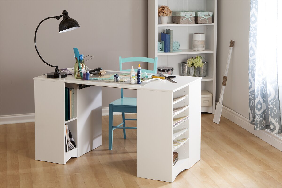 Artwork Craft Writing Desk With Storage