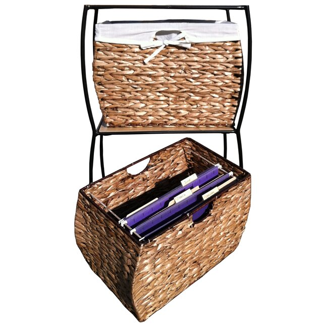 Seagrass Basket Storage 2 Drawer Vertical Filing Cabinet  sc 1 st  Wayfair & Pangaea Seagrass Basket Storage 2 Drawer Vertical Filing Cabinet ...