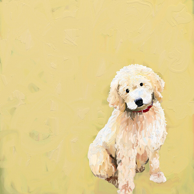 GreenBox Art \'Best Friend - Golden Doodle\' by Cathy Walters Print of ...