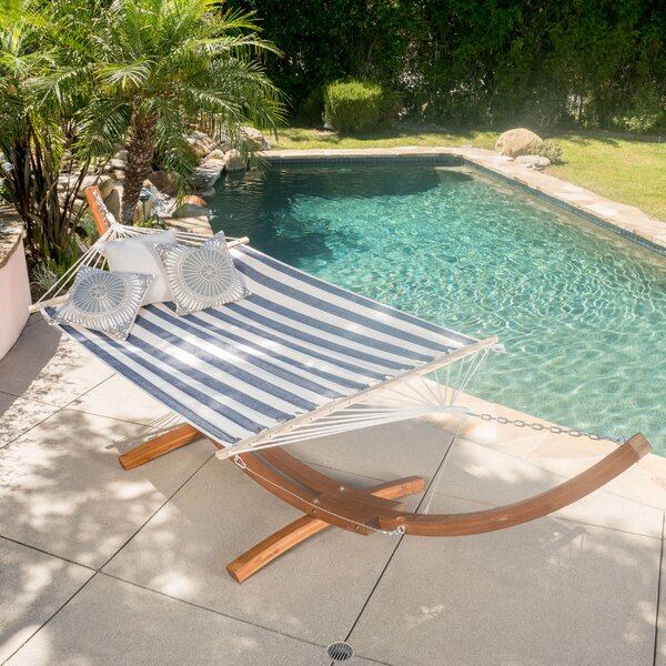 Bay Isle Home Kouklia Double Hanging Chaise Lounger With Stand U0026 Reviews |  Wayfair