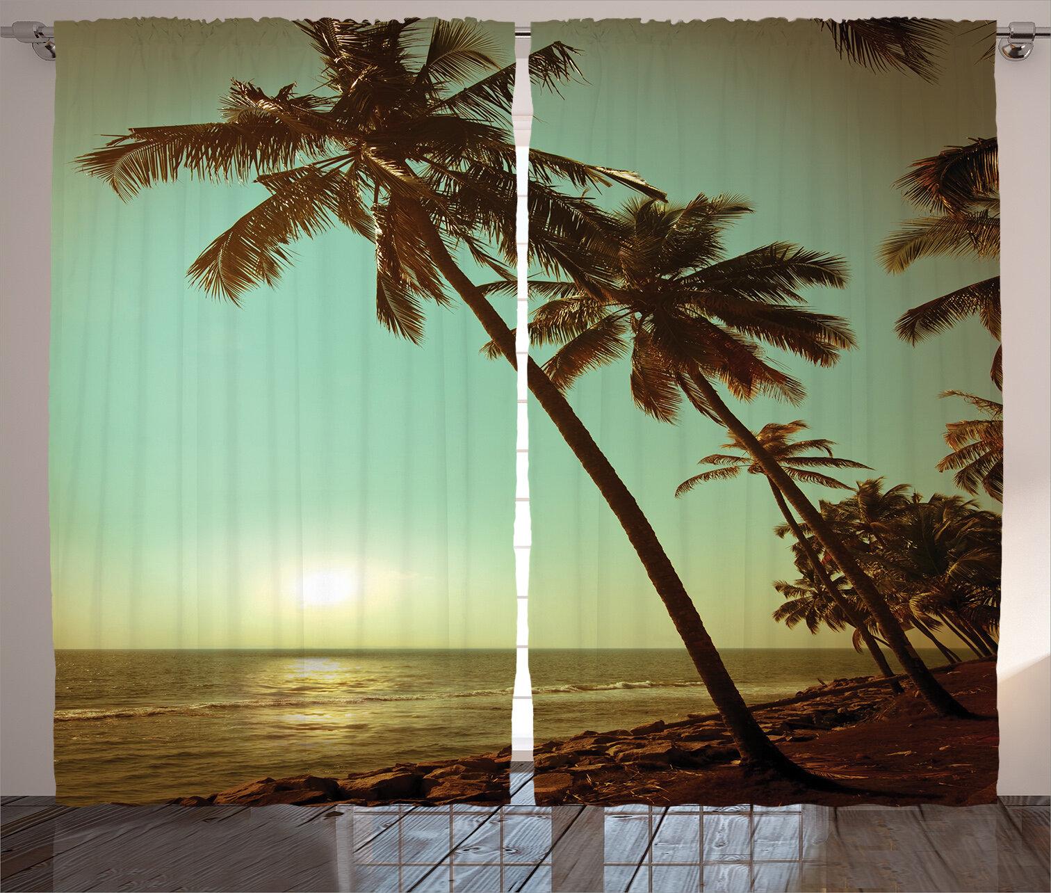 Bayou Breeze Argana Palm Tree Sunset Tropical Beach Dusk