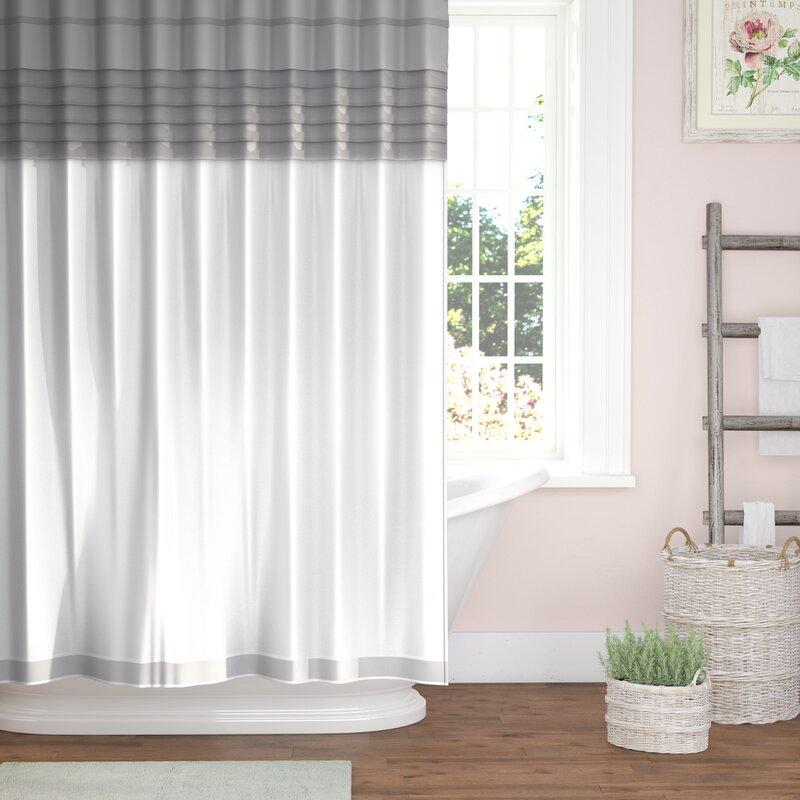 One Allium Way Merle All-in-One Shower Curtain Set