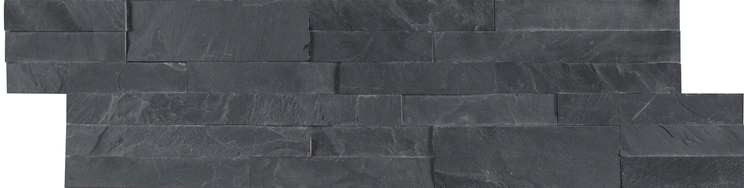 Midnight Ash Veneer L And Stick Natural Slate Subway Tile In Black