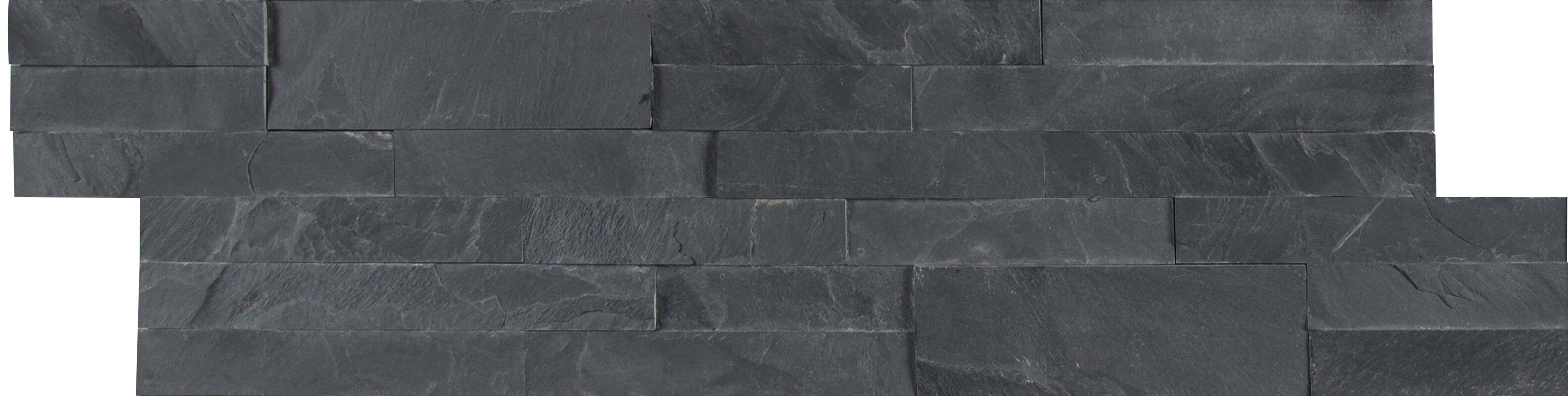 MSI Midnight Ash Veneer Peel and Stick Natural Slate Subway Tile in