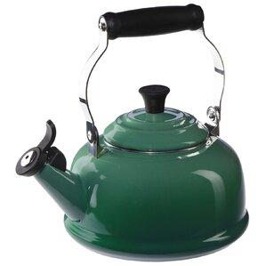 Le Creuset  Enamel On Steel 1.8 qt Classic Whistling Tea Kettle