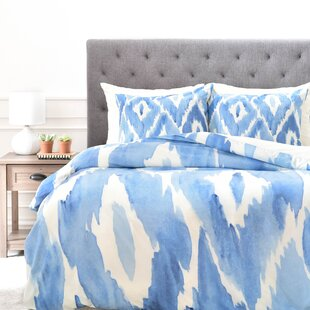 duvet from buy bed cover watercolor classic bath queen white blue in beyond ikat