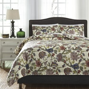 ambrose 3 piece duvet cover set - Floral Duvet Covers