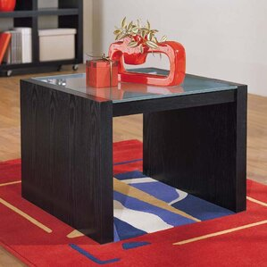 Organize It All Dusk Coffee Table with Glass Top Image