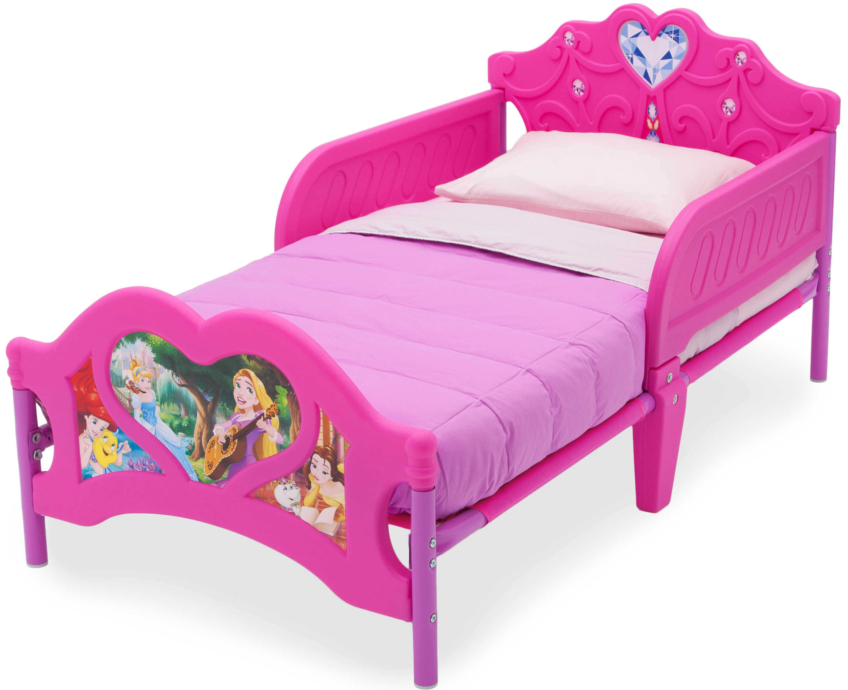 Delta children disney princess convertible toddler bed reviews wayfair