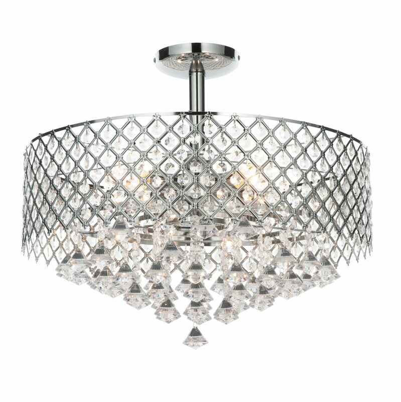 Paula 5 light semi flush ceiling light