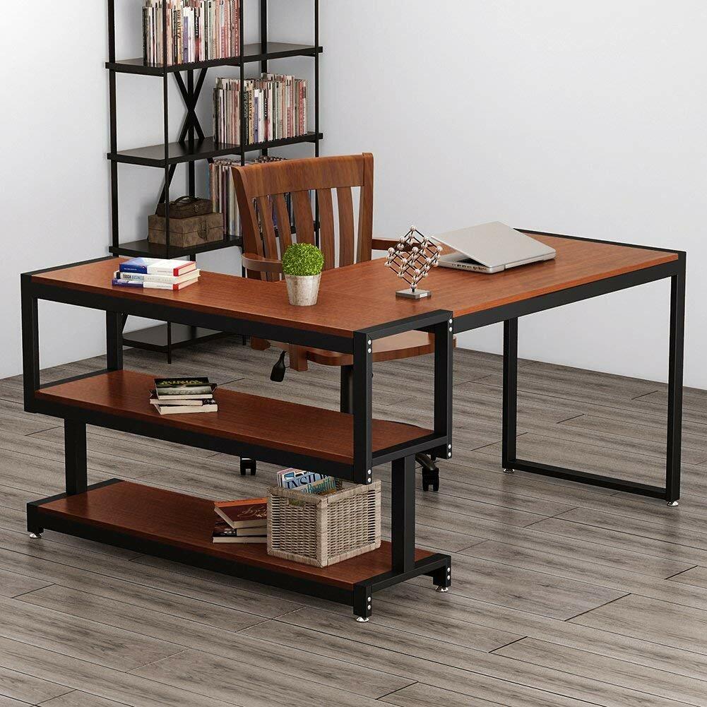 Computer tables for office Shape Aliexpresscom Ebern Designs Hertford Lshape Computer Desk Wayfair