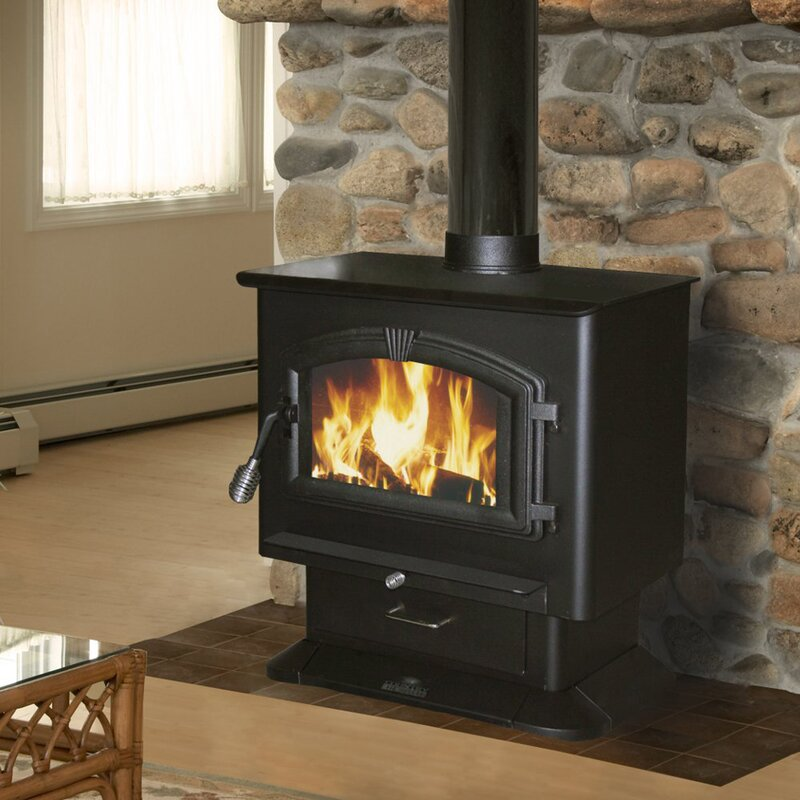 US Stove 2000 sq ft Direct Vent Wood Stove Reviews Wayfair