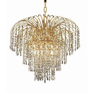 Westrem 6-Light Chain Crystal Chandelier