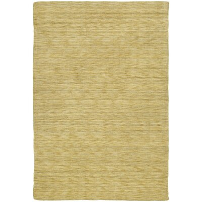 Red Barrel Studio Mccabe Hand Woven Wool Yellow Area Rug Rug Size: Rectangle 3' x 5'