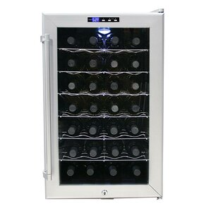 28 Bottle Single Zone Freestanding Wine C..