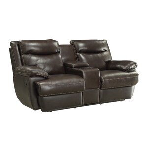 Hughes Leather Reclining Loveseat  sc 1 st  Wayfair & Reclining Loveseats u0026 Sofas Youu0027ll Love | Wayfair islam-shia.org