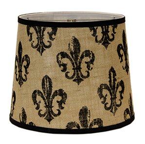 Fleur De Lis Burlap 5 Linen Drum Candelabra Shade By Ahs Lighting