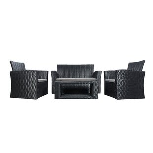 Black Rattan & Wicker Patio Conversation Sets You\'ll Love in 2019 ...