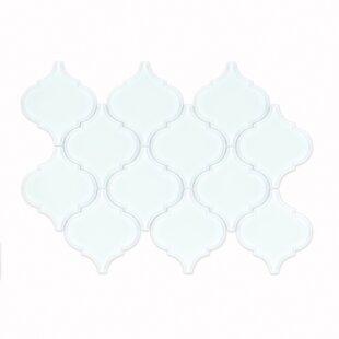910ecaadd07e La Palma Glass Mosaic Tile in Glossy White
