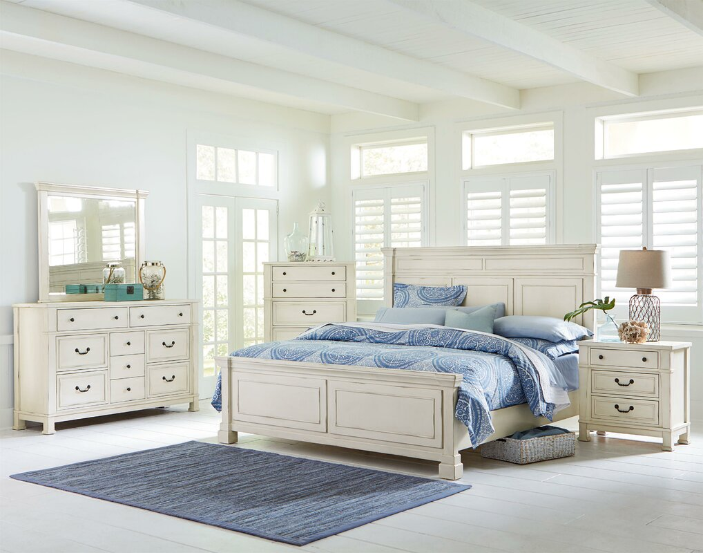 parfondeval panel configurable wood bedroom set - Wood Bedroom Sets