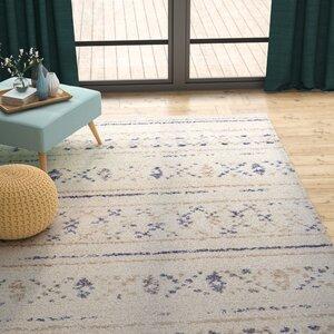 Kimberly Novia Ivory/Navy Blue Area Rug