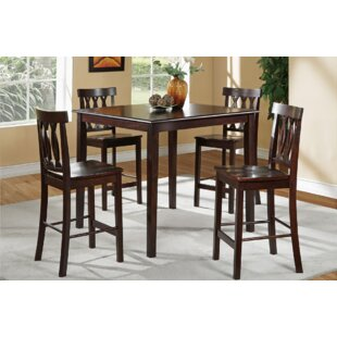 Uyen 5 Piece Counter Height Dining Set