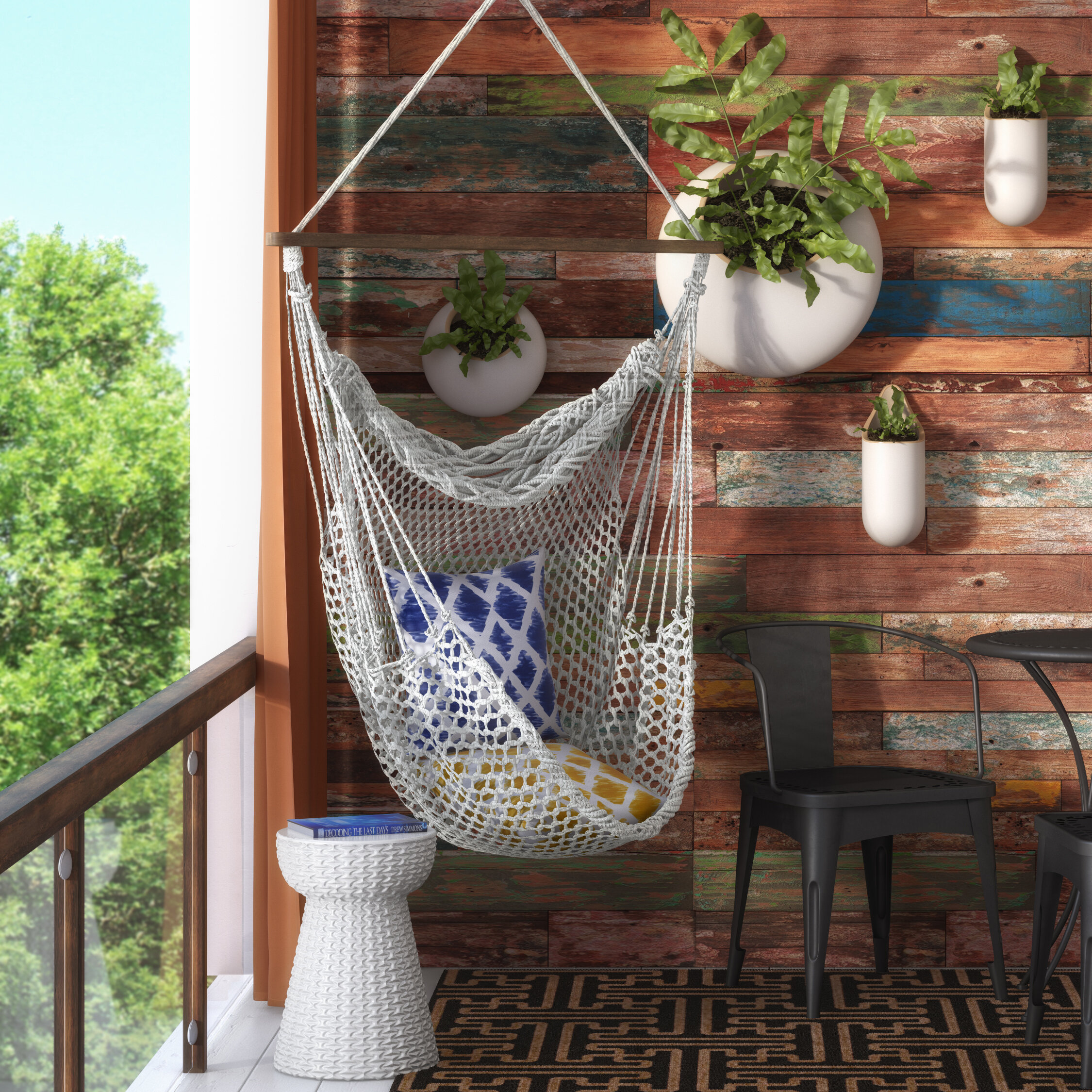 Mistana Hawkins Cotton Rope Chair Hammock U0026 Reviews | Wayfair