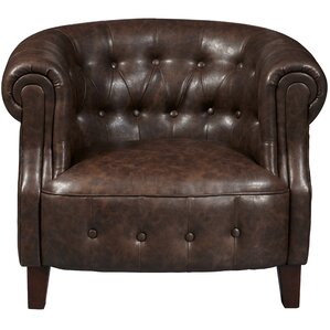 Granger Faux Leather Tufted Chesterfield Cha..