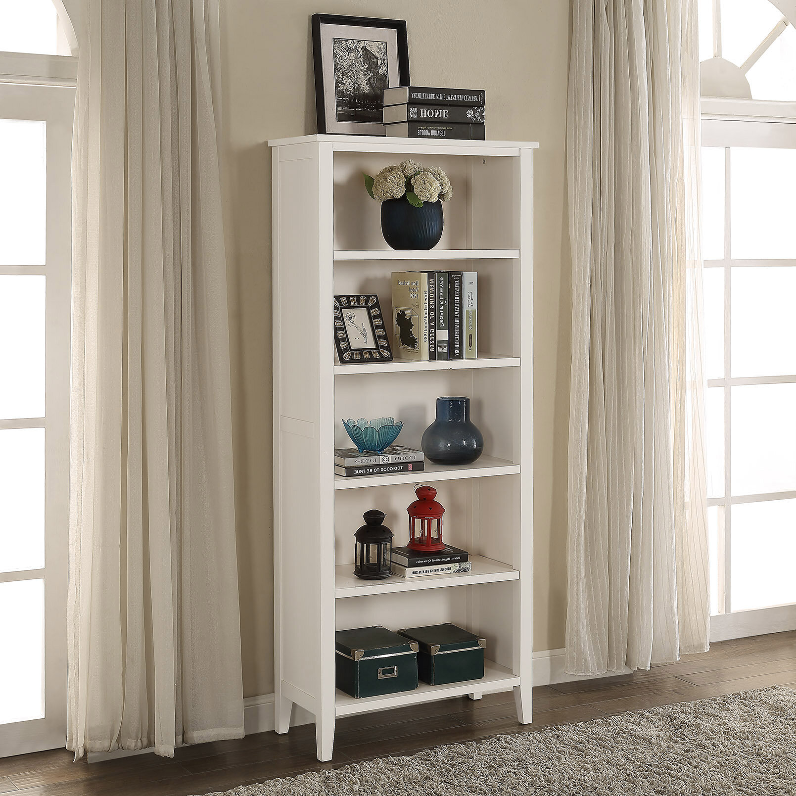 Homestyle collection savannah standard bookcase reviews wayfair malvernweather Image collections