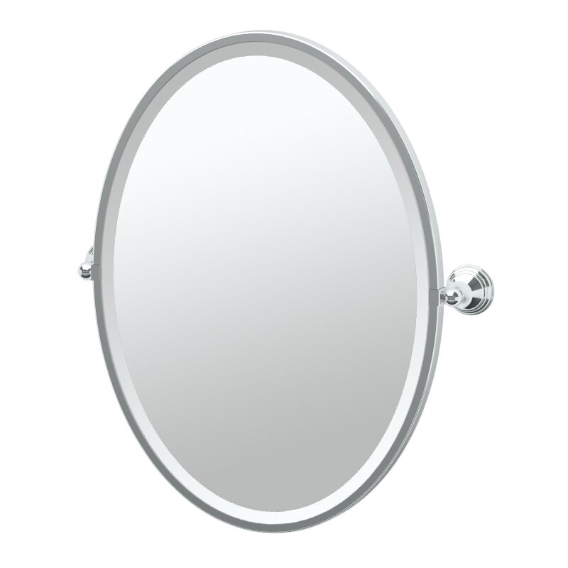 Gatco Charlotte Framed Oval Mirror & Reviews   Wayfair
