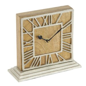 New Traditional Wood Aluminum Table Clock