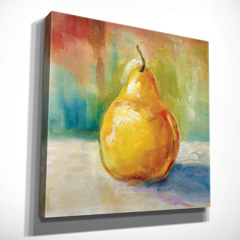 Three Posts \'Fresh Pear\' Painting Print on Wrapped Canvas & Reviews ...