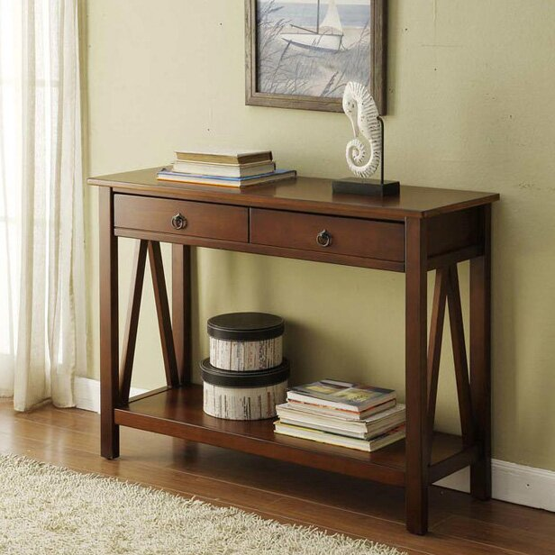 Beautiful Brassiewood Console Table
