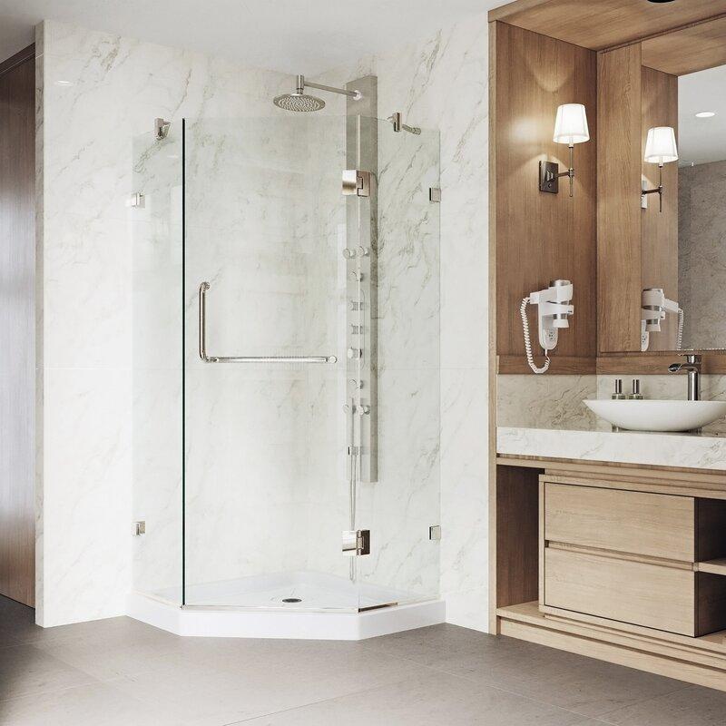 for walk shower curved enclosures main splashdirect in r enclosure recess