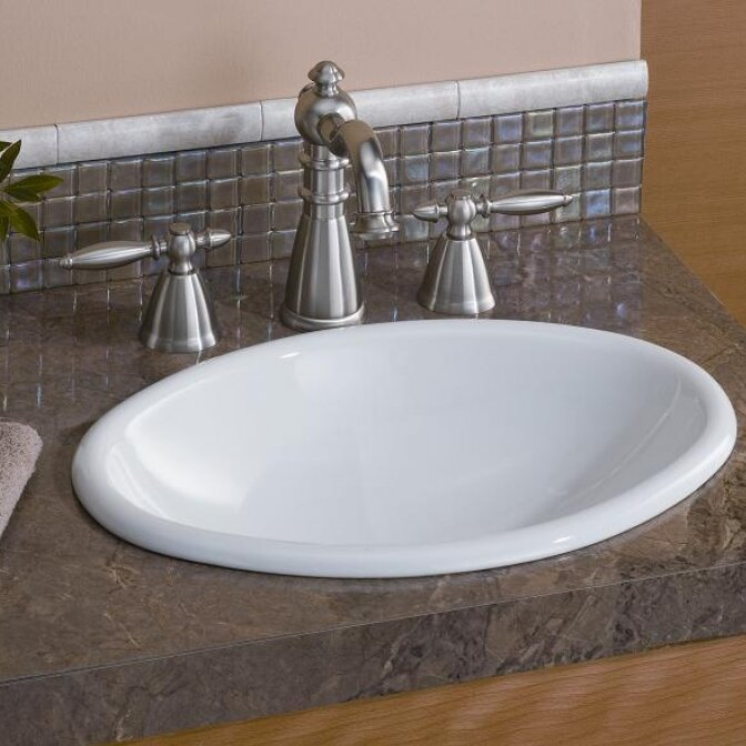 CheviotProducts Mini Vitreous China Oval Drop-In Bathroom Sink | Wayfair